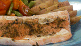 Pescado y verduras al vapor