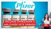 Vacunas de Pfizer empezarán a aplicarse este sábado - RTV Noticias