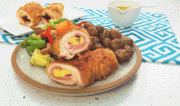 Receta del enrollado de pollo al horno