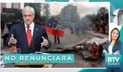 Crisis en Chile: Sebastián Piñera no renunciará ante protestas