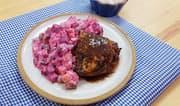 Pollo al horno con ensalada rusa