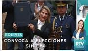 """Presidenta interina de Bolivia convoca a elecciones sin Evo"
