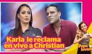 Karla Tarazona le reclama en vivo a Christian sobre supuesto embarazo - Populovers