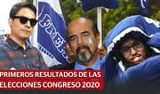 Primeros resultados de las elecciones Congreso 2020