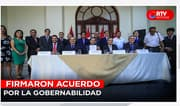 Congresistas electos firmaron acuerdo por la gobernabilidad - RTV Noticias