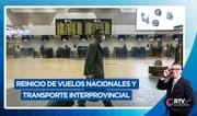 Reinicio de vuelos nacionales y transporte interprovincial