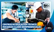 Centros de educación técnico productiva iniciarán clases semipresenciales
