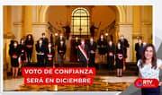 Gabinete Bermúdez pedirá el voto de confianza el 3 y 4 de diciembre - RTV Noticias