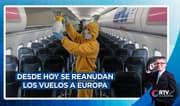 Reactivación económica: hoy se reanudan vuelos a Europa