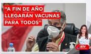 """Sagasti: """"De acá a fin de año llegarán vacunas para todos """" - RTV Noticias"""