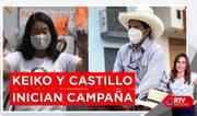 Pedro Castillo y Keiko Fujimori arrancan con sus nuevas campañas - RTV Noticias