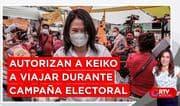 PJ autoriza a Keiko a viajar por el Perú durante su campaña - RTV Noticias