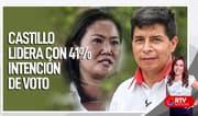 Castillo con 41% de intención de voto y Keiko 26%, según Datum - RTV Noticias
