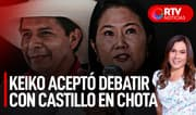Keiko aceptó debatir con Castillo este sábado en Chota - RTV Noticias