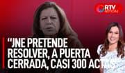 Lourdes Flores: JNE pretende proclamar de manera inconstitucional un resultado - RTV Noticias